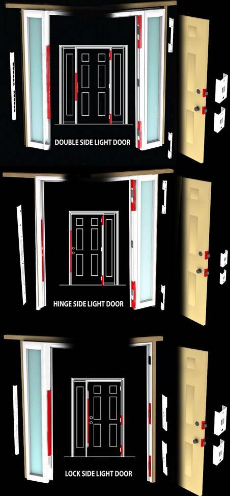 entry door security hardware