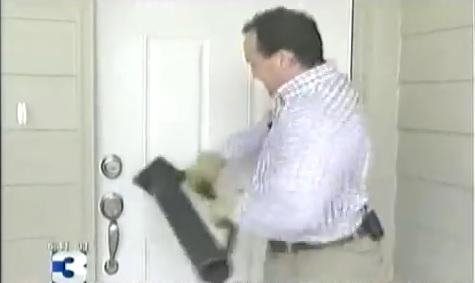 testing door security hardware with battering ram