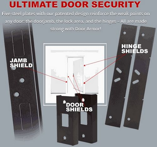sc 1 st  Front Door Security Devices u0026 Hardware & How to Secure a Door From Being Kicked In