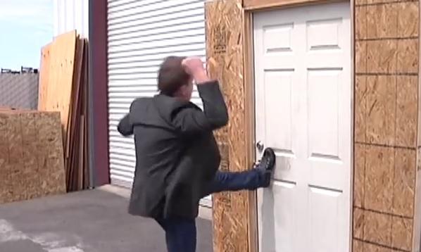 door-kick-in & How to Prevent Burglars From Kicking In Your Front Door